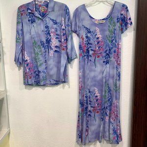 NWOT Jams World Wisteria 2 Pc Dress & Top Sz S/XS